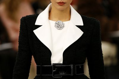 Chanel Haute Couture Spring 2017. Over-sized lapels and delicate details in the always chic palette of black and white.