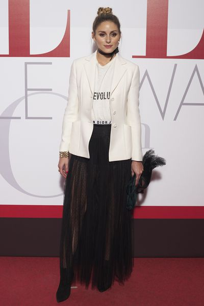 Olivia Palermo at the <em>Elle </em>30th Anniversary Party on October 26, 2016.
