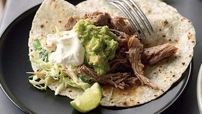 "Recipe: <a href=""http://kitchen.nine.com.au/2016/05/05/13/36/suzanne-gibbs-pulledpork-tortillas"" target=""_top"" draggable=""false"">Suzanne Gibbs' pulled-pork tortillas</a>"