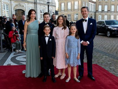 Princess Mary steps out with her family for brother-in-law's 50th birthday