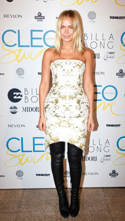 Lara Bingle at the Cleo Annual Swim Party in Sydney, November, 2012