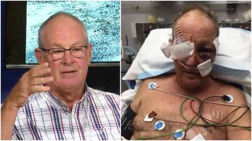 Mr Tennant spoke about having to fake his own death to avoid a shooter on a bike trail last year. (9NEWS)