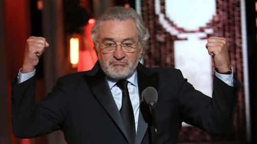 De Niro, a staunch Trump opponent, dropped a couple of F-bombs heard clearly by the Radio City Music crowd last night. Picture: AP