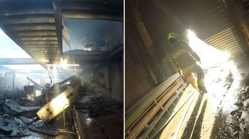 Inside the Sydney business gutted by fire