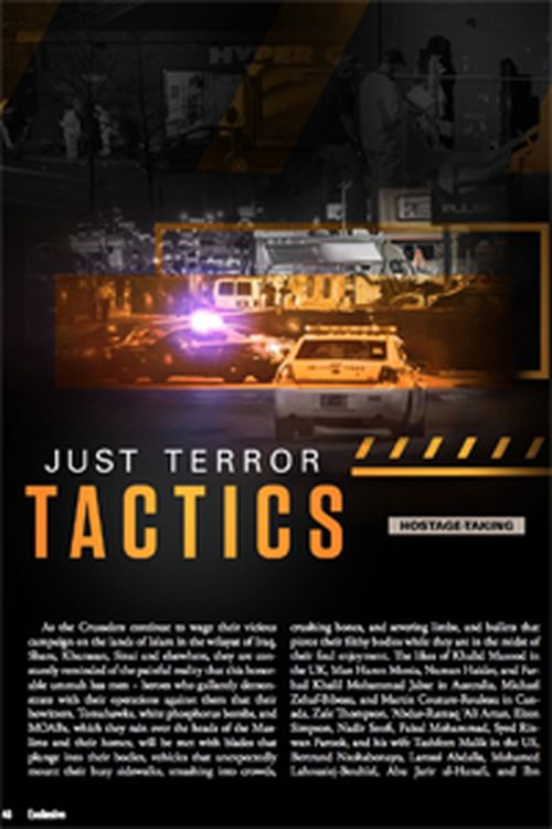 A page inside Islamic State's monthly magazine details how to take hostages.