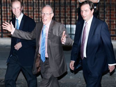 Royal household gynaecologists, Alan Farthing (Right) and Guy Thorpe-Beeston (Left) and Marcus Setchell, Surgeon Gynaecologist (Centre)