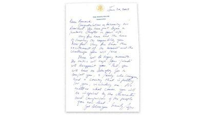 George W Bush's letter to Barack Obama