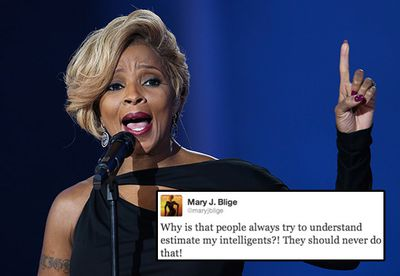 """Mary J. Blige made the cringeworthy error of misspelling the words """"underestimate"""" and """"intelligence"""" while trying to scold others for doubting her smarts! <br/><br/>The singer was quickly alerted to the mistake by her followers and humbly responded saying, """"Thanks for checking me. This is how we learn."""""""