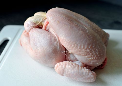 A new study has revealed raw chicken might not be great for your dog. (AAP)