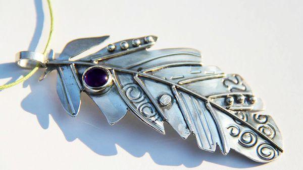 Pendant made in jewellery class (Sanur Jewellery Studio)