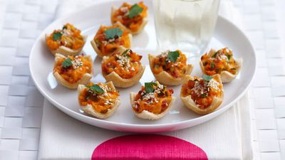 "<a href=""http://kitchen.nine.com.au/2016/05/16/16/55/sweet-potato-and-cheese-bread-tarts"" target=""_top"">Sweet potato and cheese bread tarts<br> </a>"