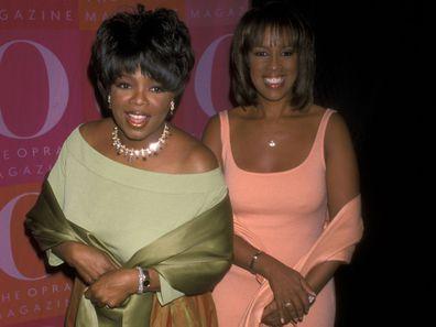 Oprah Winfrey with Gayle King in 2001.