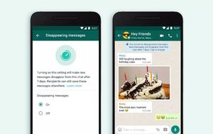 WhatsApp brings in feature that sees messages disappear after seven days
