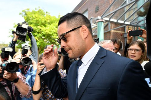 Jarryd Hayne is one of a trio of NRL players who will face criminal court cases in the new year.
