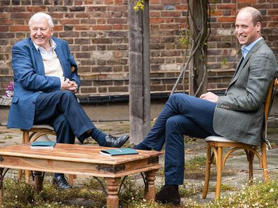 Prince William, Duke of Cambridge and Sir David Attenborough discuss The Earthshot Prize at Kensington Palace, in London, England