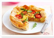 Bacon & egg pie
