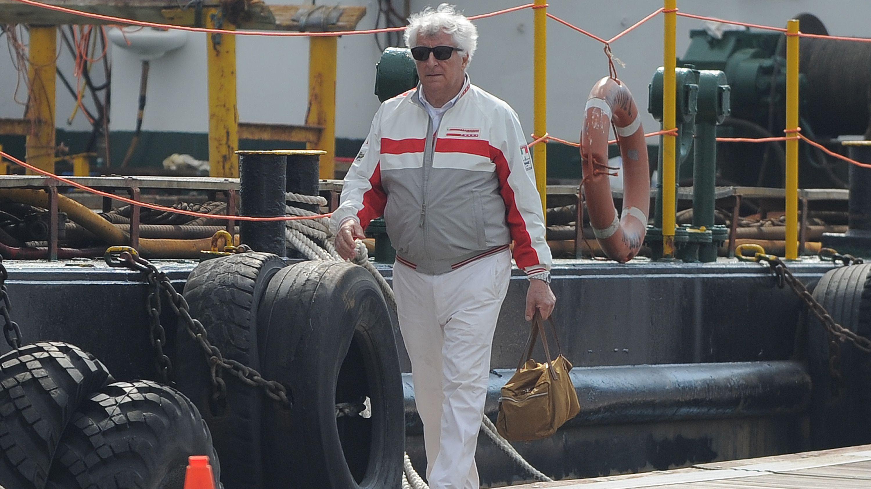 Patrizio Bertelli attends the America's Cup World Series in Naples.