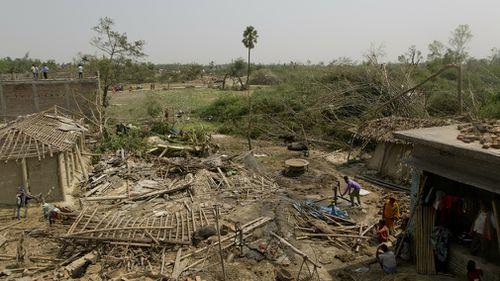 Nepal rainstorm emergency damage