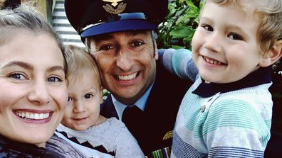 Sam McClymont and family on Anzac Day