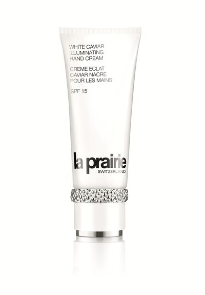 "<p><a href=""https://www.laprairie.com.au/au/white-caviar-illuminating-hand-cream-spf15/95790-01109-18.html"" target=""_blank"">White Caviar Illuminating Hand Cream , $185, La Praire</a></p>"