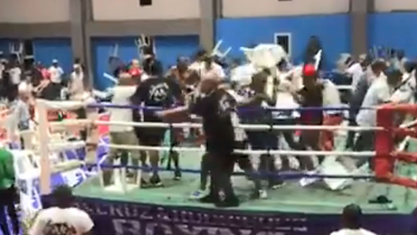 Boxing riot ensues after hometown fighter loses in Dominican Republic