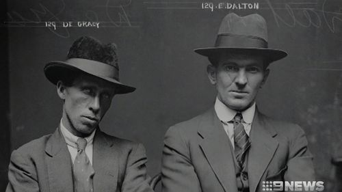 Mugshots of Sydney's criminal class post WW1 are on display. (9NEWS)