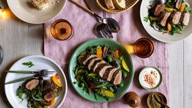 Za'atar lamb salad with dates and oranges recipe