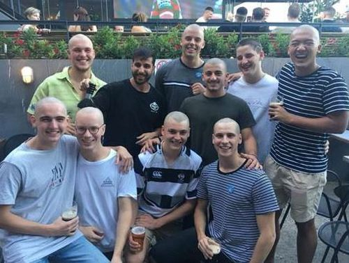 Mr Rahim has helped raise money for The Leukaemia Foundation by shaving the heads of nine boys. (Facebook)