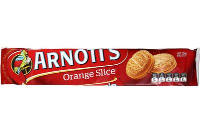 Orange Slice: 71 calories/298kj per biscuit