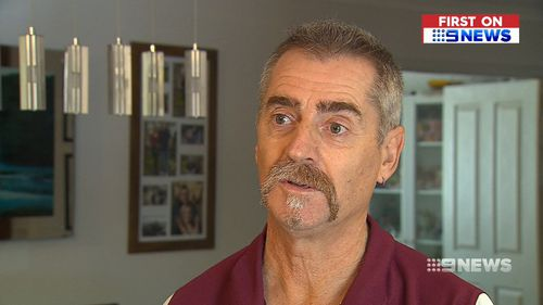 """Witness Kym Franceschini said he was """"horrified"""" to think of what could have happened on the highway. (9NEWS)"""