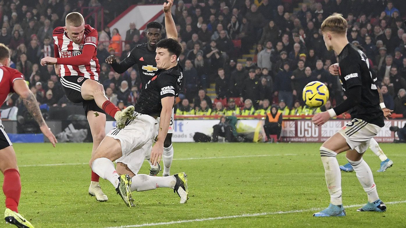 Manchester United concede late to be held to draw with Sheffield United