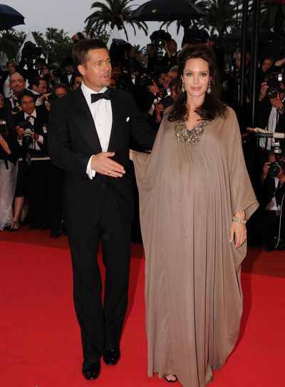 Angelina Jolie and Brad Pitt at the <em>Changeling</em> premiere in Cannes in May, 2008
