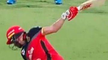 'Astonishing' one-handed IPL six shocks cricket world