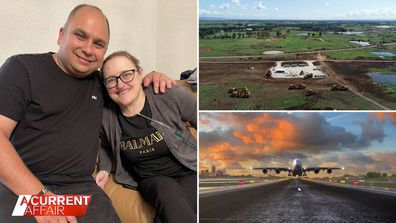 A surviving husband claims airport land rezoning has made home 'worthless'