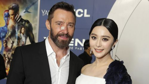 Fan Bingbing with Hugh Jackman at the Premiere of 'X-Men: Days of Future Past' in New York City. 2014.