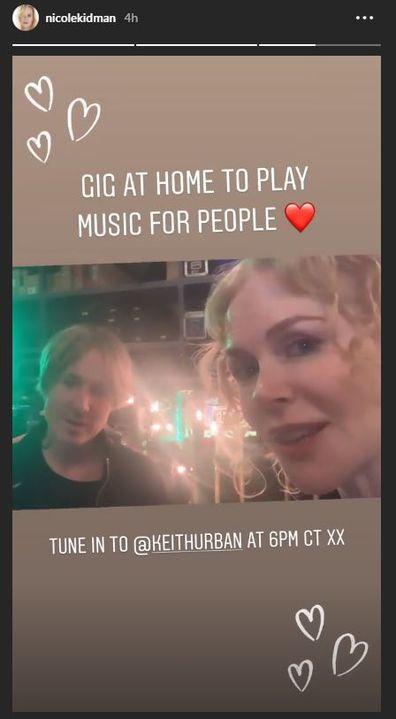 Coronavirus, celebrities, free concert, stream, Instagram, Keith Urban, Nicole Kidman