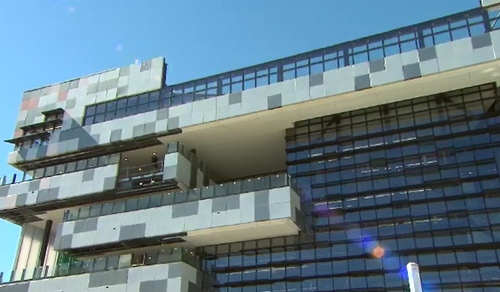 Learning on another level: the school campus consists six floors. (9NEWS)