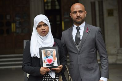 The parents won a ruling on whether treatment should be stopped for their five-year-old daughter Tafida Raqeeb.