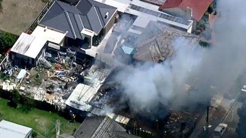 Two people have suffered burns in a house fire at Glenroy, in Melbourne's north. (9NEWS)
