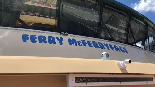 Sydney's controversial ferry, Ferry McFerryface, crashed into a wharf at Balmain East this morning while carrying passengers (9NEWS).