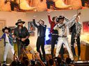 Billy Ray Cyrus, BTS and Lil Nas X perform onstage during the 62nd Annual GRAMMY Awards at Staples Center on January 26, 2020 in Los Angeles, California.