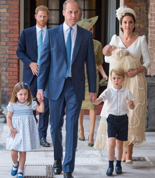 The Cambridges were seen together for the first time as a family of five. Picture: AAP