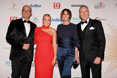 Sunrise presenters at the 2019 Logies