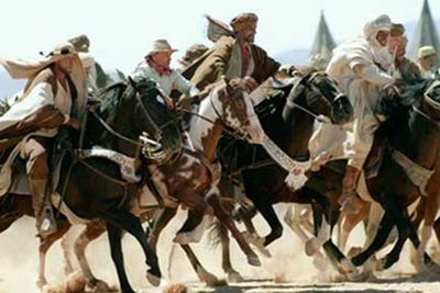Based on a series of tall tales, the film follows distance rider Frank Hopkins (Viggo Mortensen) and his horse Hidalgo as they compete in an annual 3000-mile survival race across the Najd desert. Multiple American Paint Horses played the titular horse Hidalgo, one of whom Mortensen later purchased.