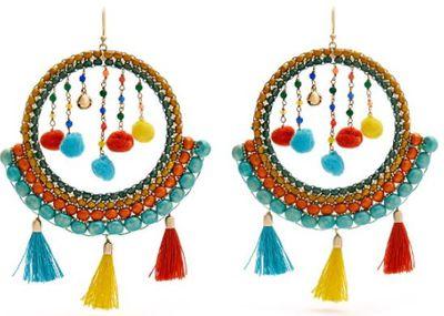 "<a href=""http://www.matchesfashion.com/au/products/Rosantica-By-Michela-Panero-Merida-bead-and-tassel-earrings-1165077"" target=""_blank"">Rosantica by Michela Panero Merida Bead and Tassel Earrings, $210.</a>"
