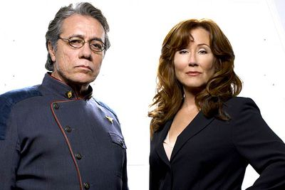 <B>Starred in/Ran from:</B> <I>Battlestar Galactica</I>, 2004 to 2009, playing schoolteacher-turned-president Laura Roslin and starship captain Bill Adama.<br/><br/><B>The snub:</B> McDonnell's and Olmos's performances in <I>Battlestar Galactica</I> are, to put it bluntly, effing incredible. Critics and fans alike heaped praise on the acting dynamos, but  though their performances were easily on-par with the leads of any other drama the pair were never once nominated for outstanding lead actor or actress.