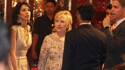 Hillary Clinton at the ceremony