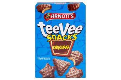 TeeVee Snacks: 25 calories/103kj per biscuit