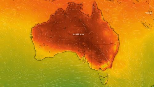 The heatwave is bearing down upon much of Australia's heavily-populated east coast.