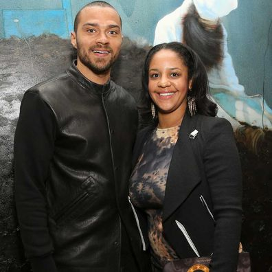 Jesse Williams and Aryn Drakelee-Williams attend the Art Los Angeles Contemporary Reception on January 23, 2013.
